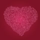 Heart of red roses Royalty Free Stock Photos