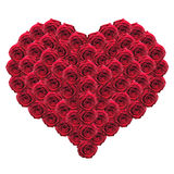 Heart of red roses Stock Images