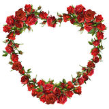 Heart of red roses Royalty Free Stock Images