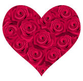 Heart of red roses. Royalty Free Stock Photo