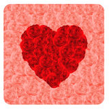 Heart of red roses. Royalty Free Stock Photos