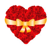 Heart of red roses Stock Photos