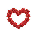 Heart of red Roses  illustration Stock Image