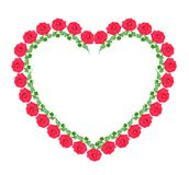 Heart from red roses, isolated. Stock Photography