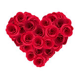 Heart of red roses. Stock Photography