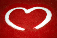 Heart on Red Sand Stock Images