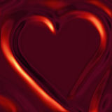 Heart in Red Satin Stock Images