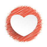 Heart Red Scribble Stock Photos