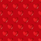 Heart red seamless background Stock Photo