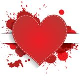 Heart with red splashes Royalty Free Stock Images