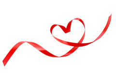 Heart a red tape Royalty Free Stock Photography
