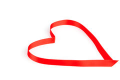 Heart a red tape Royalty Free Stock Image