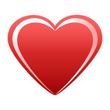 Heart of the red with white highlights Royalty Free Stock Images