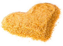 Heart from reed granulated sugar Royalty Free Stock Photos
