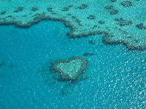 Heart Reef. Overhead view of heart-shaped reef Stock Image