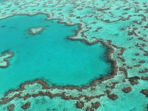 Heart Reef & The great barrier reef royalty free stock photo