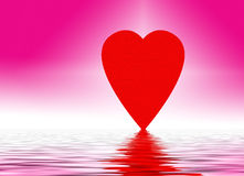 Heart reflecting on water Stock Photography