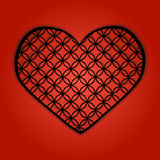 Heart with the repeating pattern. Vector illustration Stock Images