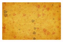 Heart on retro old paper texture. Heart on a retro old paper texture with clipping path Stock Photos