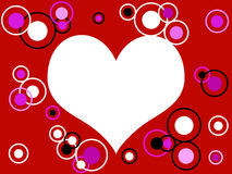 Heart and retro rings Royalty Free Stock Image