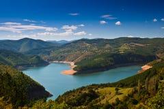 Heart of the Rhodope Mountains. Sunday stroll around the lake Kardjali Royalty Free Stock Photo