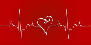 Heart rhythm Stock Image