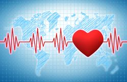 Heart rhythm Royalty Free Stock Photos