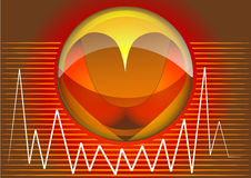 Heart rhythms Royalty Free Stock Photography