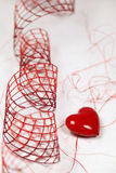 Heart and ribbon Royalty Free Stock Photo