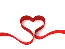Heart from ribbon Stock Photo