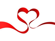 Heart from ribbon. Heart from red ribbon fly Stock Image