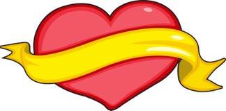 Heart and ribbon Stock Photos
