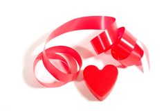 Heart and ribbon Royalty Free Stock Images