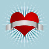 Heart and ribbon Stock Image