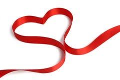 Heart from ribbon Royalty Free Stock Photos