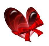 Heart with ribbon Stock Photos