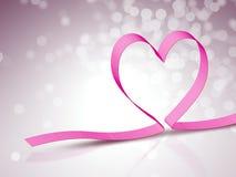 Heart ribbon Stock Images