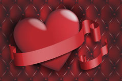 Heart and ribbon Royalty Free Stock Photos