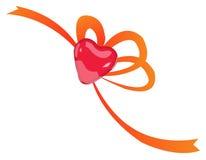 Heart ribbon Royalty Free Stock Image