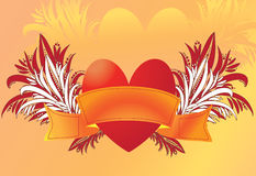 Heart with ribbon Stock Photo