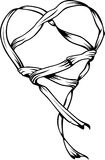 Heart of ribbon royalty free illustration