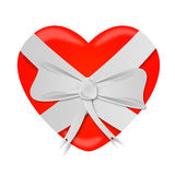Heart Ribbon bow St Valentines Day Royalty Free Stock Images
