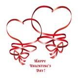 Heart ribbon bow Stock Image