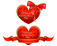 Heart with ribbon and bow Royalty Free Stock Image