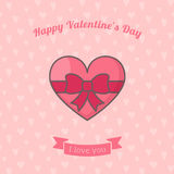 Heart with ribbon bow. Royalty Free Stock Photo