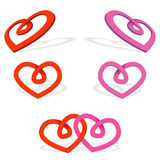 Heart Ribbon Royalty Free Stock Photos