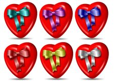 Heart and ribbon collection Stock Image