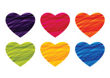 Heart ribbon in colorful vector Royalty Free Stock Photography