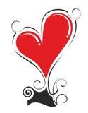 Heart with ribbon Royalty Free Stock Photo
