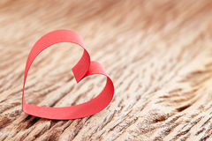 Heart Ribbon. A ribbon forming a heart stock images